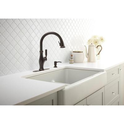Worth Single-Handle Pull-Down Sprayer Kitchen Faucet in Oil Rubbed Bronze