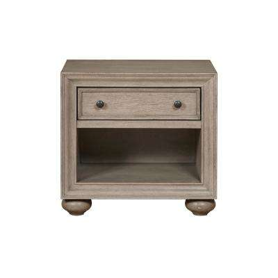 Grey Youth Transitonal Open Nightstand
