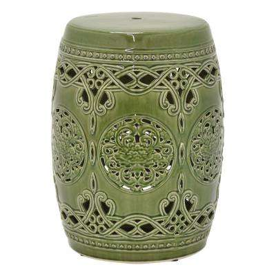 "Three Hands 18.5 "" Garden Stool - Green"