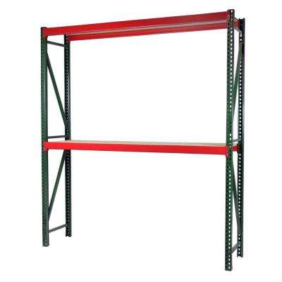 72 in. W x 96 in. H x 36 in. D Steel Bulk Rack Shelving Unit with Particle Board Decking