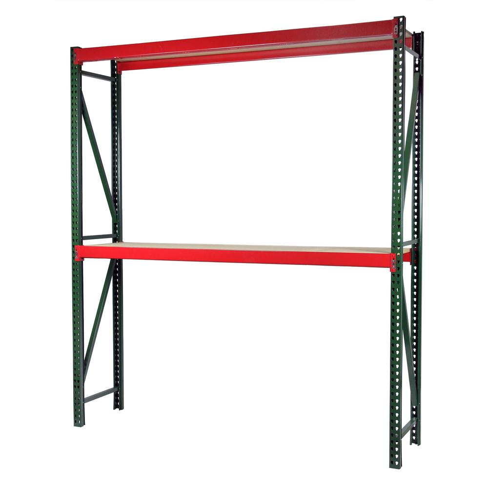 Storage Concepts 96 in. W x 96 in. H x 48 in. D Steel Bulk Rack Shelving Unit with Particle Board Decking