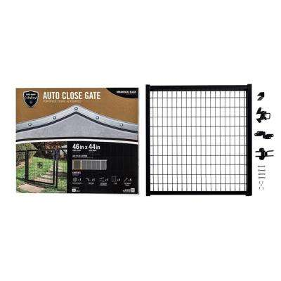 4 ft. x 4 ft. Metal Auto Close Chain Link Fence Gate Kit
