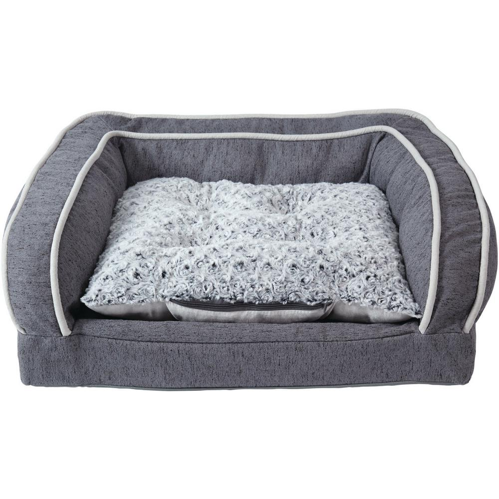 Large with Cushion Brown Orthopedic Dog Sofa Bed-21002 - The ...