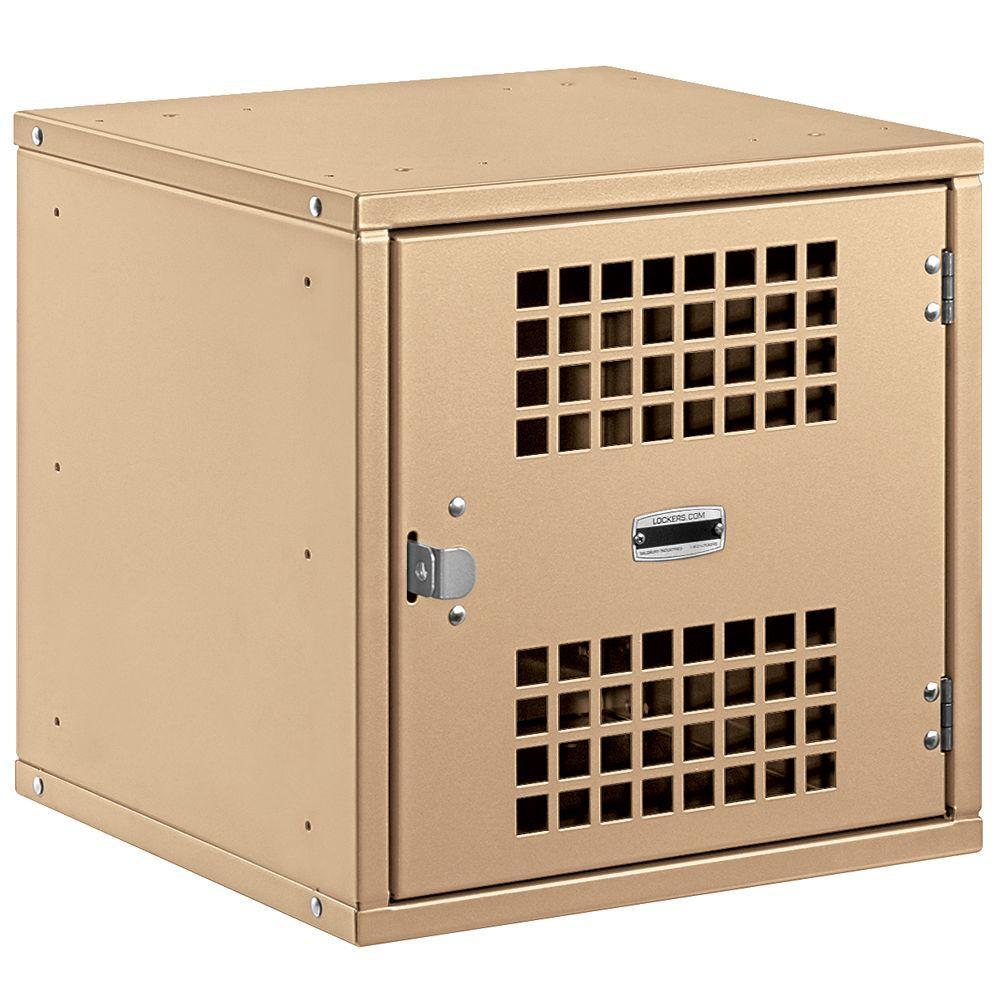 Salsbury Industries 80000 Series 15 in. W x 15 in. H x 15 in. D Vented Door Metal Modular Locker in Tan