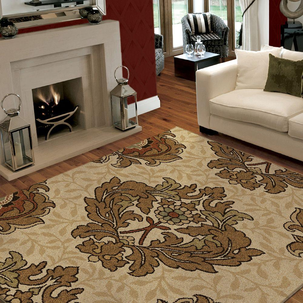 Orian Rugs Harrison Bisque 5 Ft X 8 Ft Area Rug 272789 The