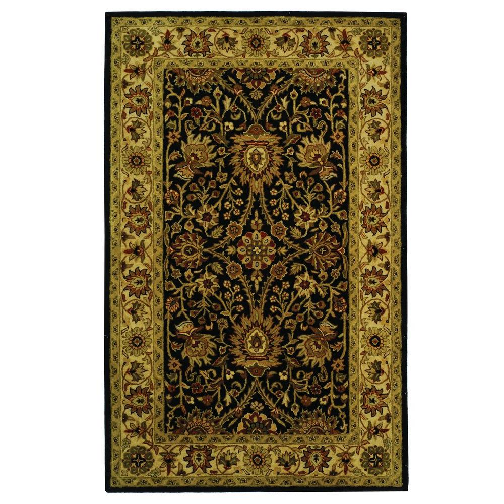 Antiquity Black 5 ft. x 8 ft. Area Rug