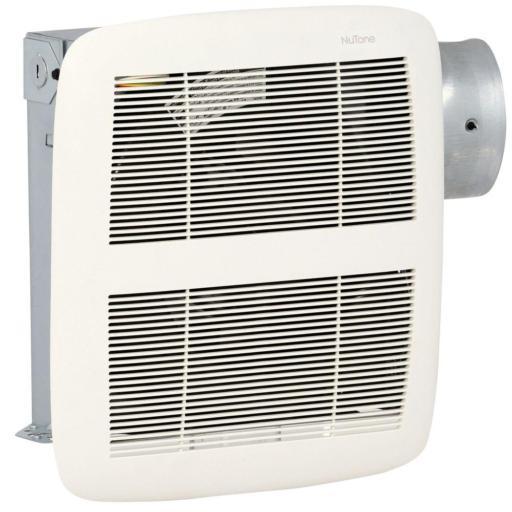 NuTone LoProfile 80 CFM Ceiling/Wall Bathroom Exhaust Fan with 4 in. Oval  Duct