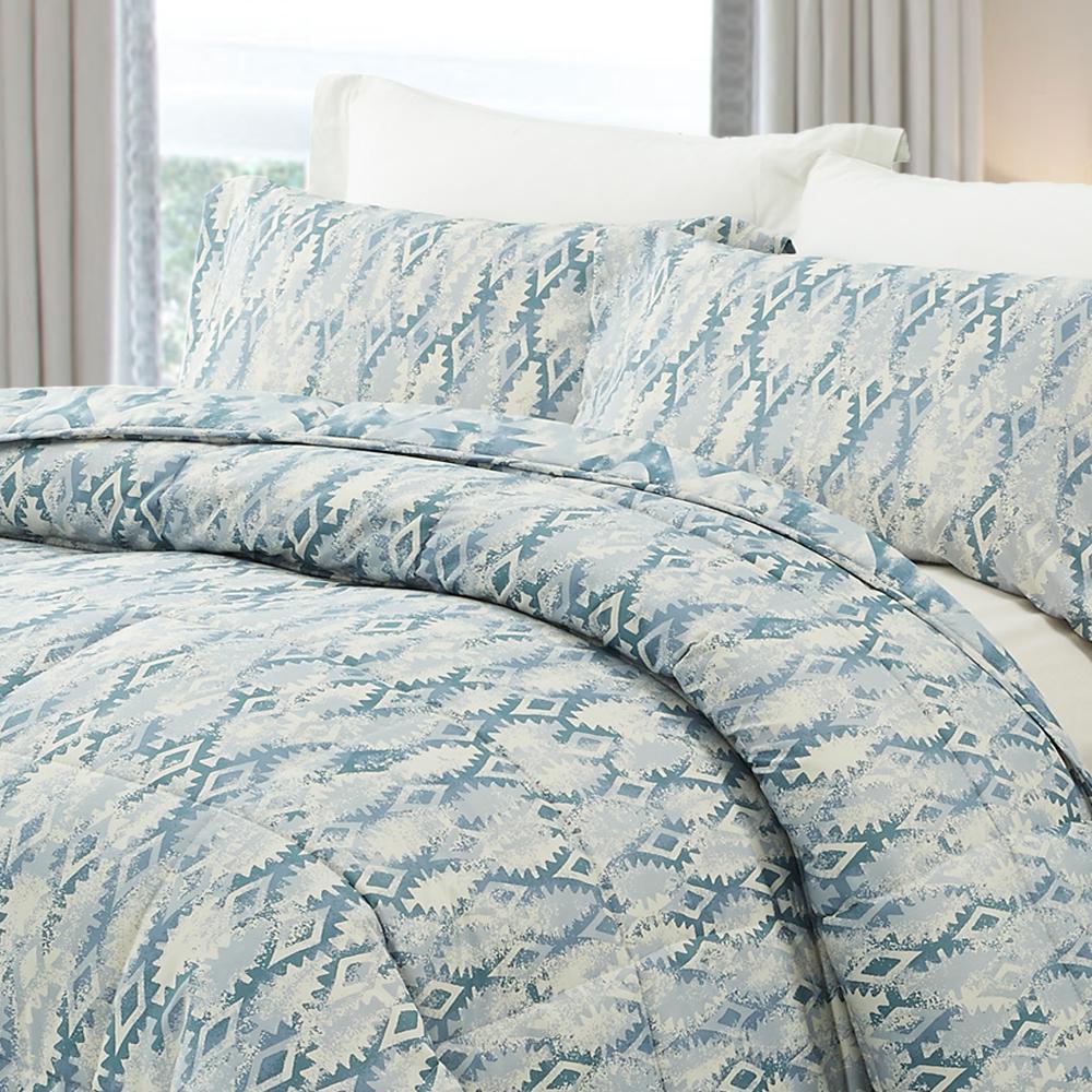 3-Piece Greenish Gray Queen Comforter Set