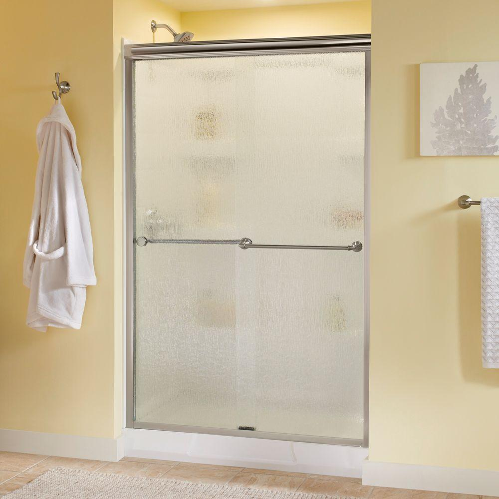 Delta Mandara 48 In X 70 In Semi Frameless Sliding Shower Door In