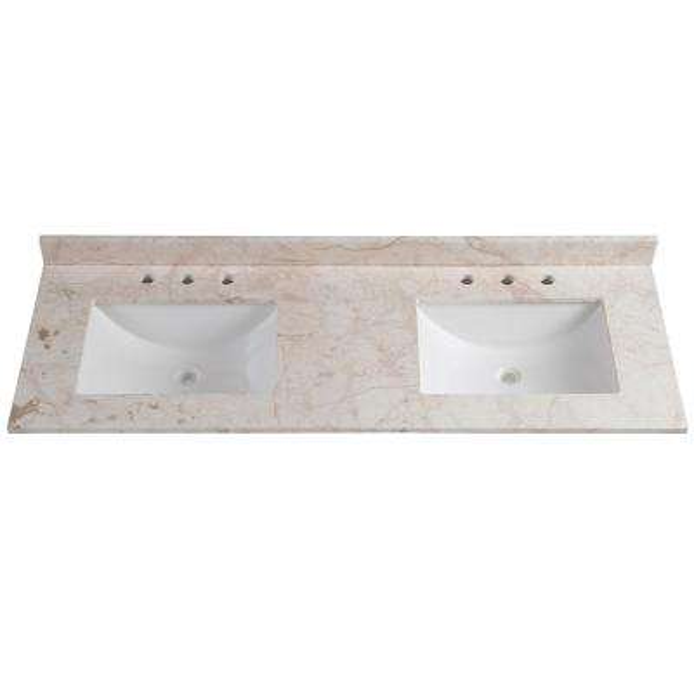 vanity double sink top. 61 in  Double Sink Vanity Tops Bathroom Vanities The Home Depot