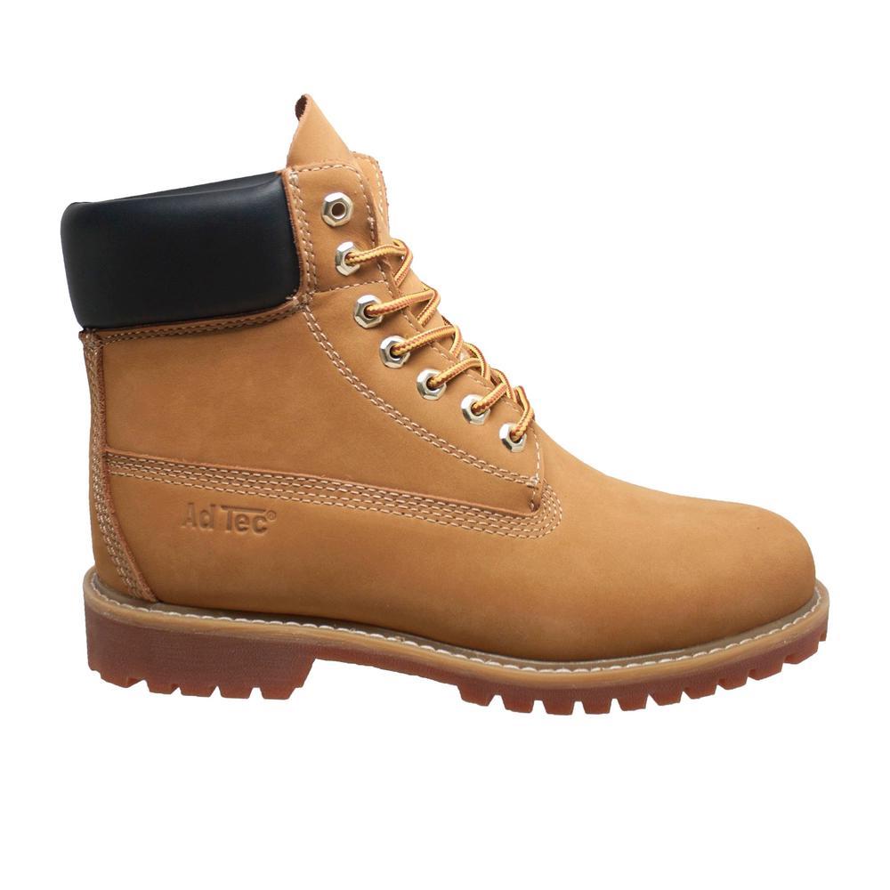 72d298b8e6 AdTec Women's Size 8 Tan Leather 6 in. Waterproof Work Boots-8803 ...