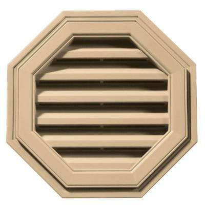 18 in. Octagon Gable Vent in Sandstone Maple