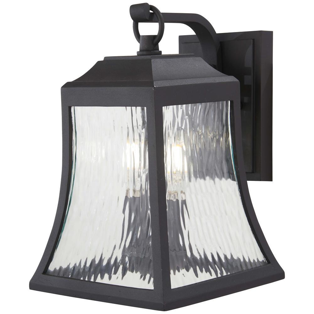 Cassidy Park 2-Light Black Outdoor Wall Mount Lantern