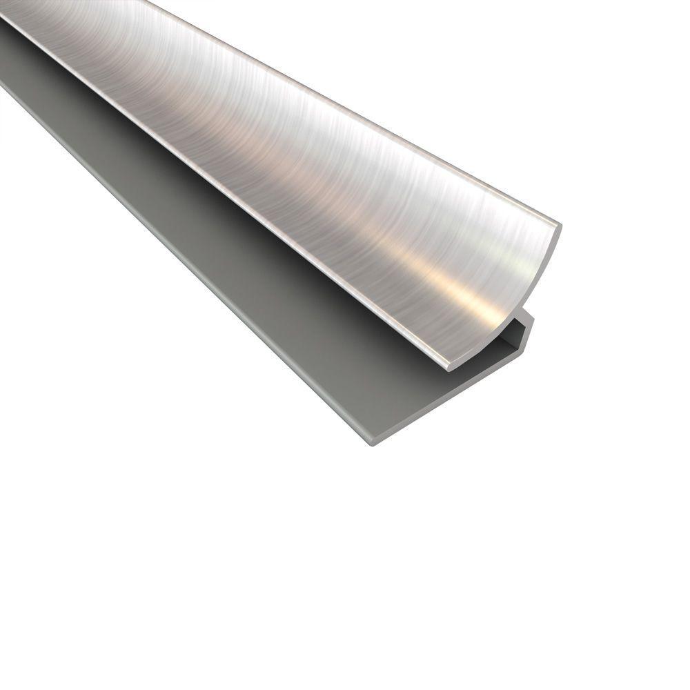 Fasade 4 ft. Large Profile Inside Corner Trim in Brushed Nickel