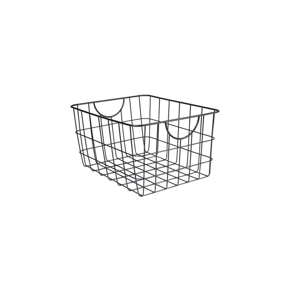 Utility 11.75 in. W x 15 in. D x 8 in. H Basket in Cool Gray