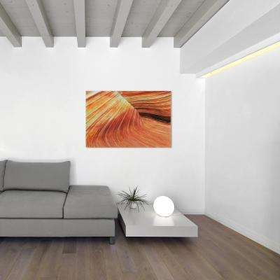"32 in. x 48 in. ""Painted Rock"" Frameless Free Floating Tempered Glass Panel Graphic Wall Art"