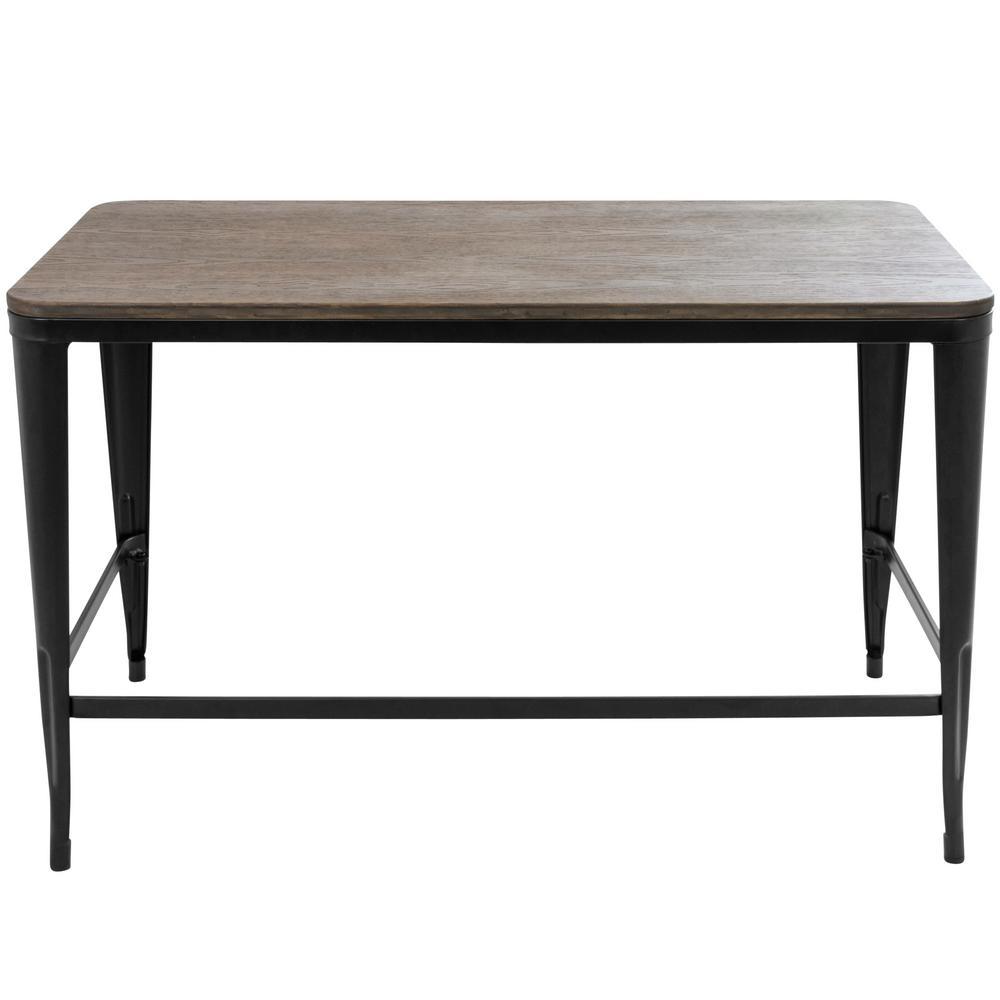 Pia Black and Espresso Office Desk