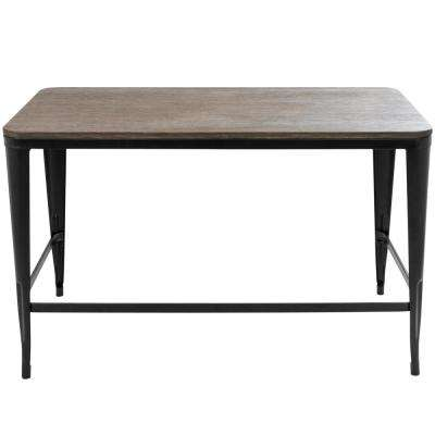 Pia Black and Espresso Office Desk
