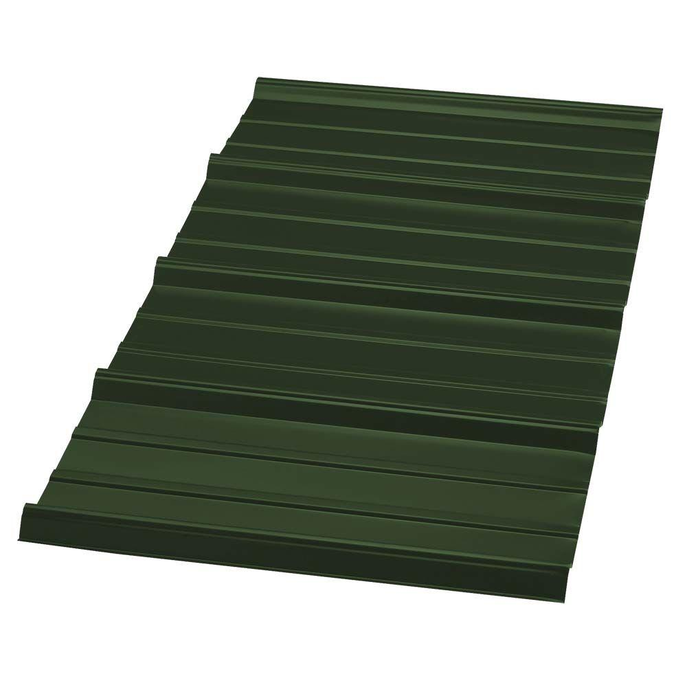 8 ft. SM RIB Galvanized Steel 29-Gauge Roof Panel in Forest