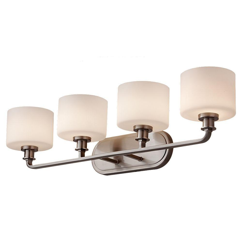 Kincaid 4-Light Brushed Steel Vanity Light