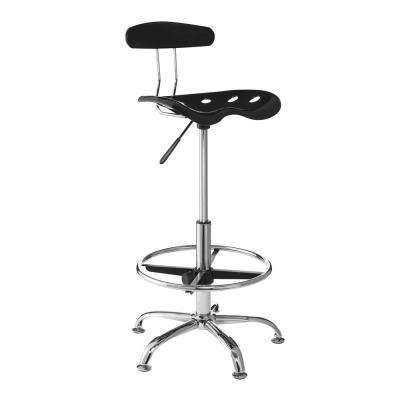 Black Drafting Stool with Tractor Seat