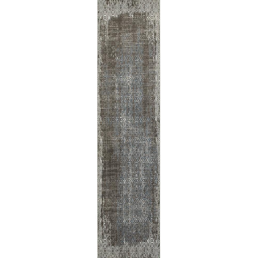 Adana Brown/White 1 ft. 10 in. x 7 ft. 1 in.