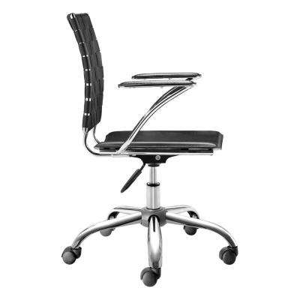 Criss Cross Black Office Chair