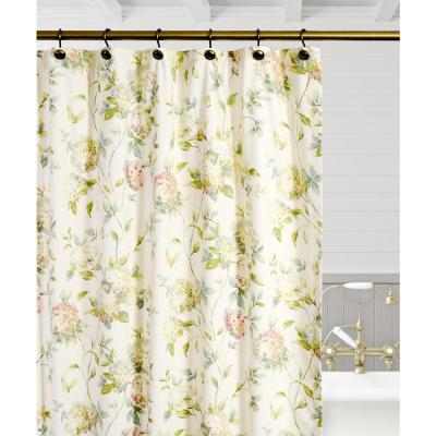 Abigail 72 in. Multi Floral Shower Curtain