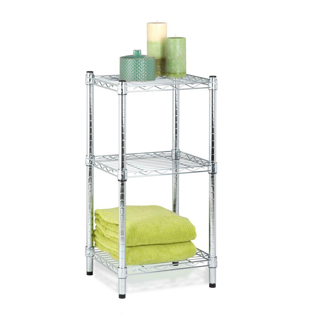 Honey-Can-Do 3-Shelf 14 in. W x 30 in. H x 15 in. D Steel...