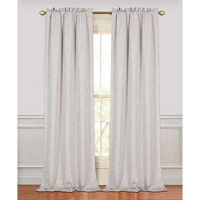 Couture 84 in. Polyester Window Curtain Panel Pair in Oatmeal (2-Pack)
