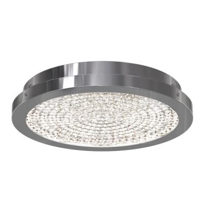 Glam 13.5 in. 1-Light Chrome Integrated LED Flush Mount
