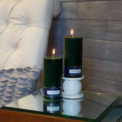 Evergreen 3 in. x 6 in. Unscented Pillar Candles (Set of 2)
