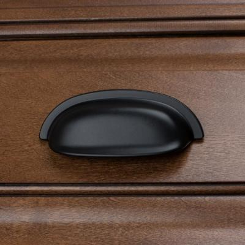 2-1/2 in. Center-to-Center Matte Black Classic Bin Cabinet Pulls (10-Pack)