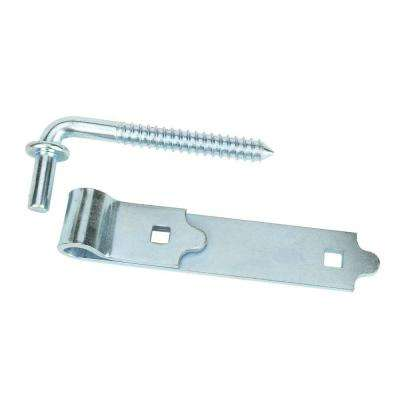 6 in. Zinc Plated Screw Hook and Strap Hinge
