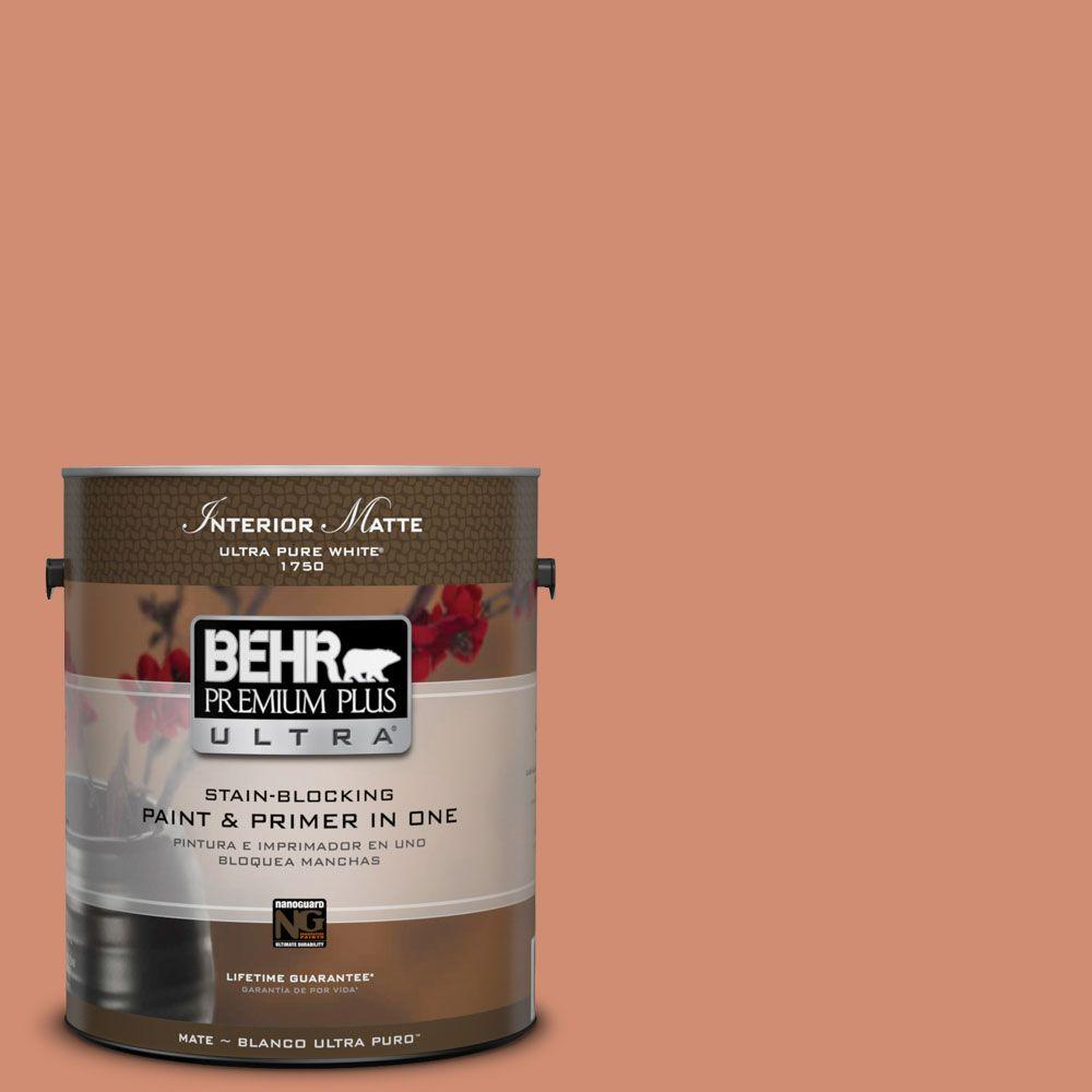 1 gal. #ICC-63 Terra Cotta Pot Matte Interior Paint and Primer