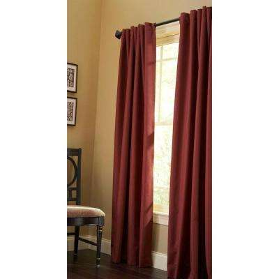 Semi-Opaque Ohio Buckeye Thermal Crepe Back Tab Curtain