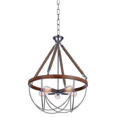 Parana 5-Light Chrome Chandelier