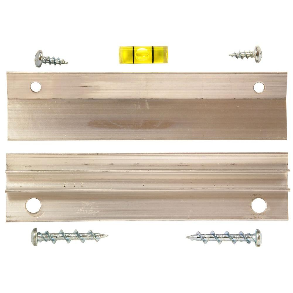 OOK 60 lb. French Cleat Picture Hanger with Wall Dog Mounting Screws Kit (7-Piece)
