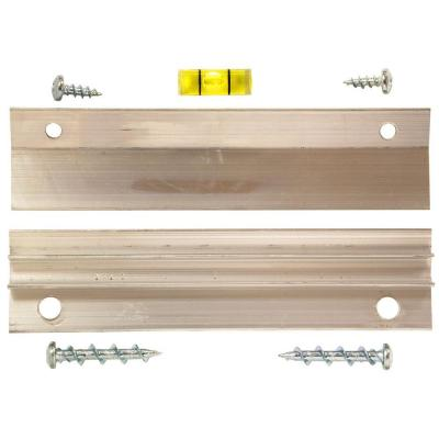 60 lb. French Cleat Picture Hanger with Wall Dog Mounting Screws Kit (7-Piece)