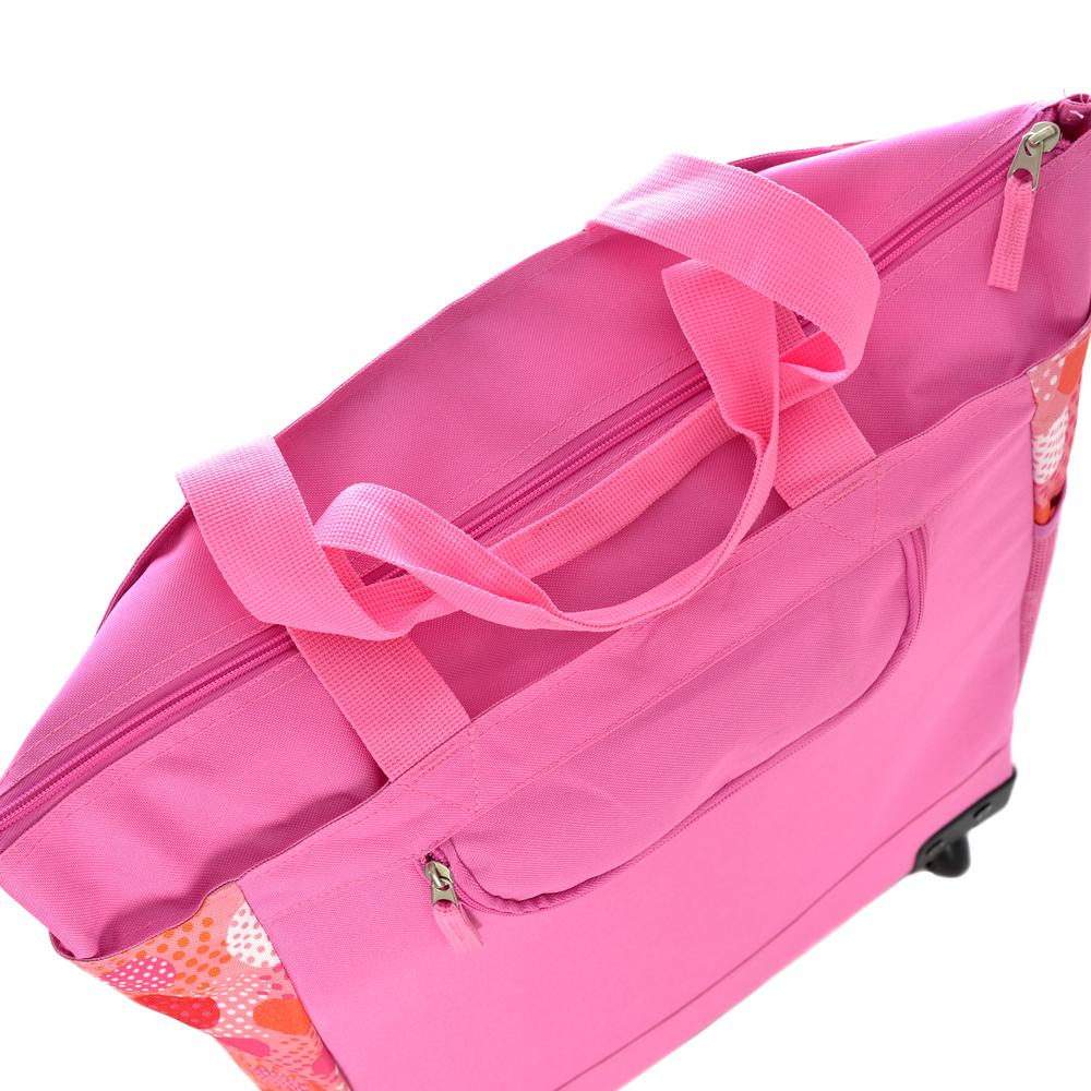 4b9dd835a Olympia USA Fashionista Rolling Shopper Tote Pink Polka RS-400-PKDT - The Home  Depot