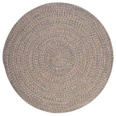 Cicero Gray 8 ft. x 8 ft. Round Braided Area Rug