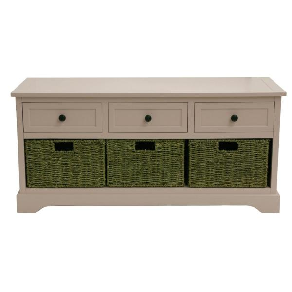 Decor Therapy Montgomery White Storage Bench FR8663