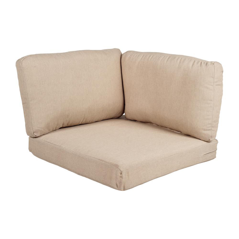 Beverly Beige Replacement 3-Piece Outdoor Corner Chair Cushion Set