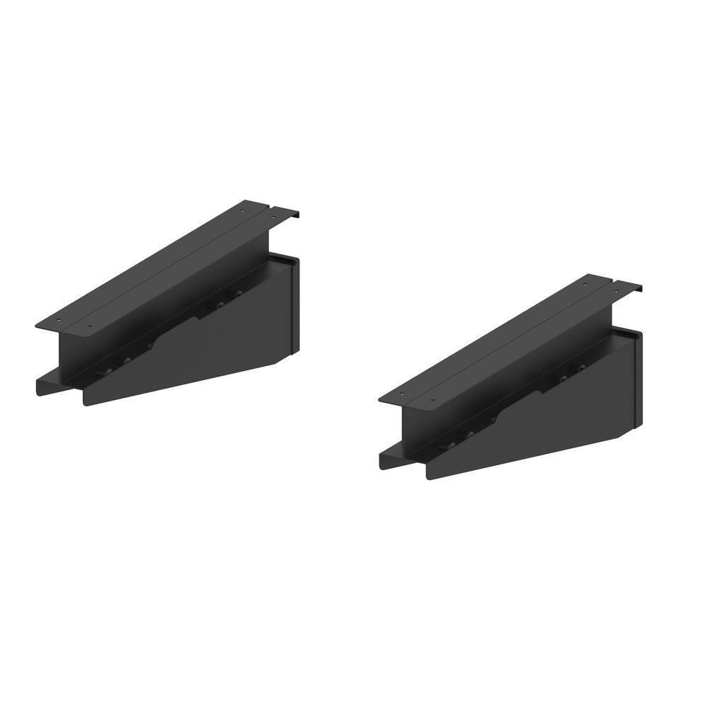 Slat Wall and Track Shelf Bracket (2-Pack)