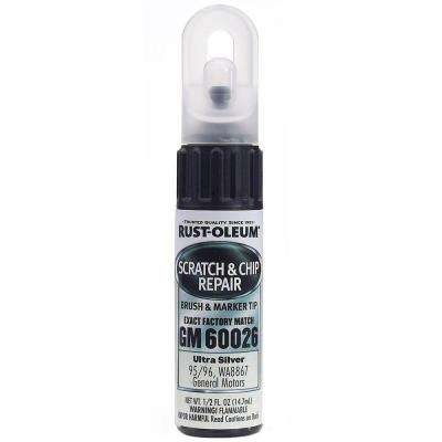 0.5 oz. Ultra Silver Scratch and Chip Repair Marker (6-Pack)