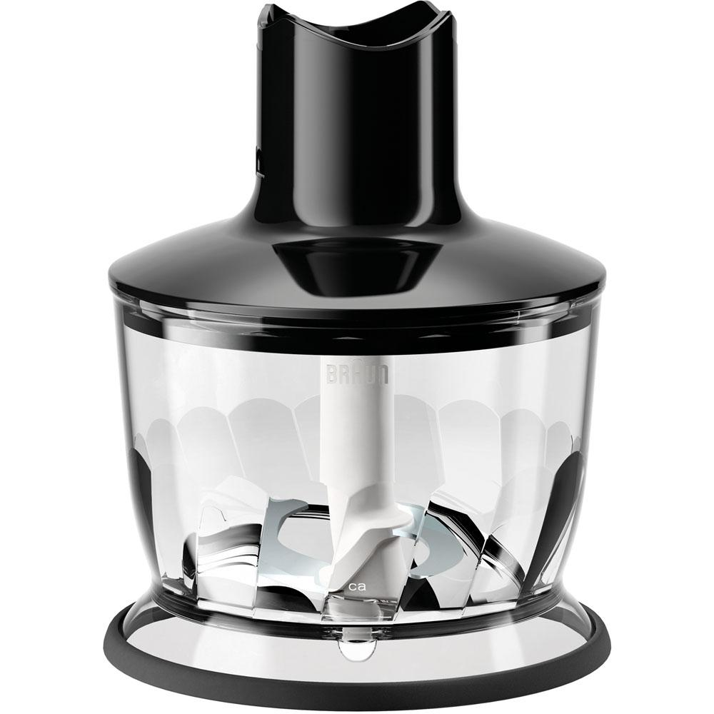 braun 2 cup chopper attachment for multi quick hand blenders in black mq30bk the home depot. Black Bedroom Furniture Sets. Home Design Ideas