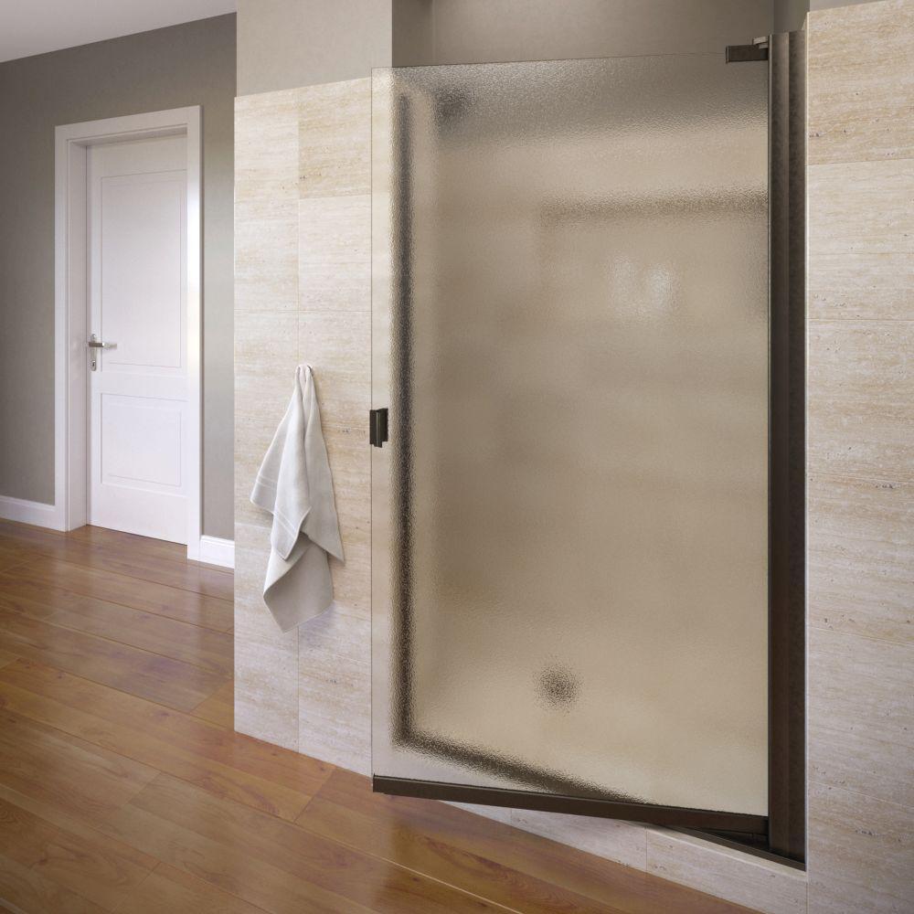 Basco Classic 25-1/8 in. x 66 in. Semi-Framed Pivot Shower Door in Oil Rubbed Bronze
