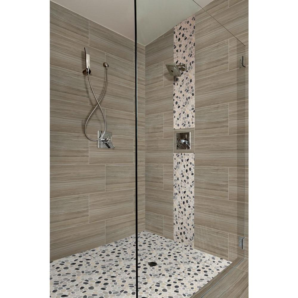 Msi Cresta Silver 12 In X 24 Glazed Porcelain Floor And Wall Tile Sq Ft Case