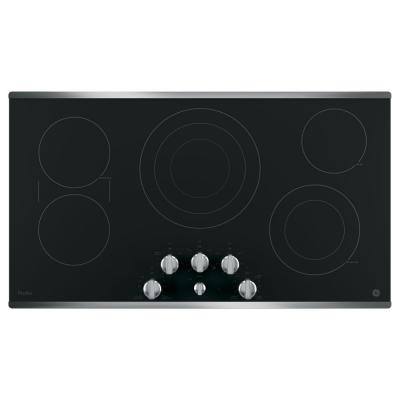 Profile 36 in. Radiant Electric Cooktop in Stainless Steel with 5 Elements with Rapid Boil