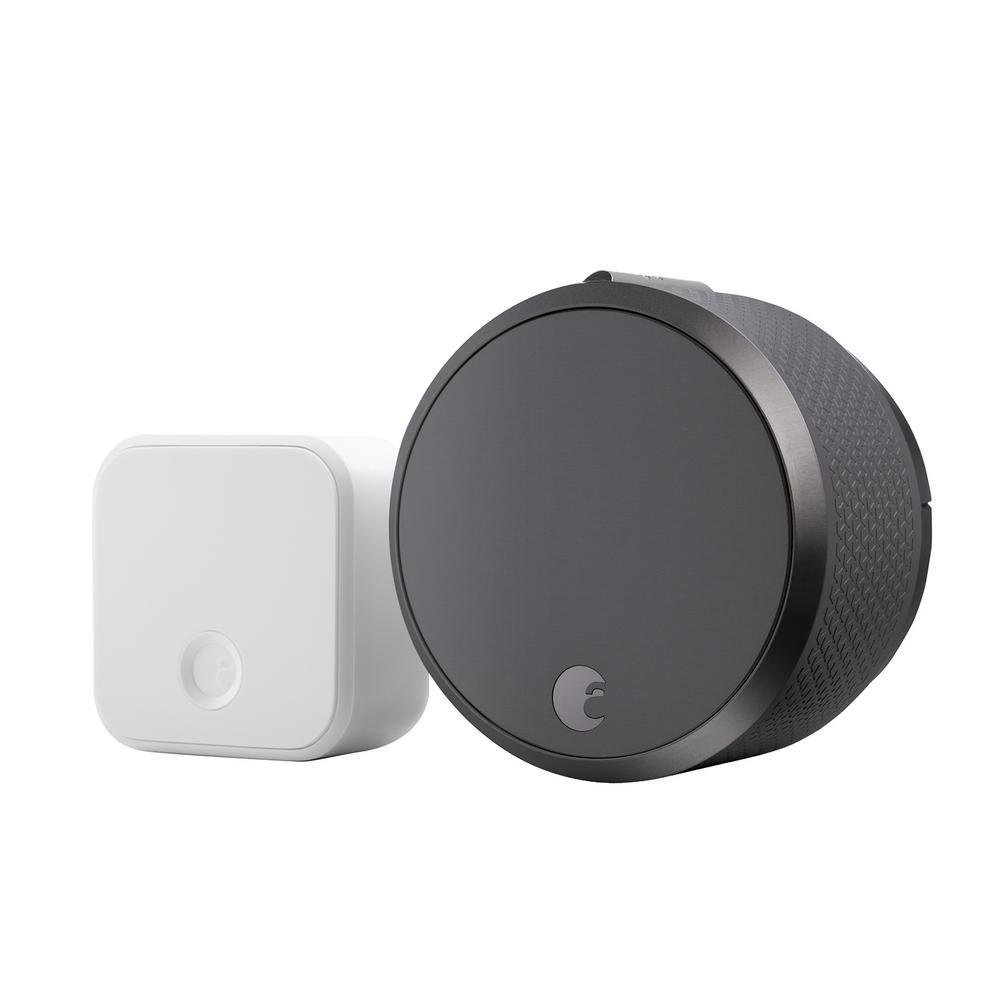 August Smart Lock Pro + Connect, Dark Gray